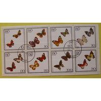 Швеция. Бабочки. ( Малый лист ) 1977 года.