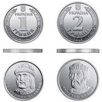 G Украина 1 и 2 гривны 2018 г.  монеты из ролла Владимир Великий и Ярослав Мудрый