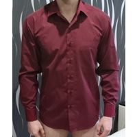 Рубашка 48-50р. бордового цвета