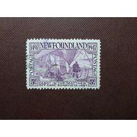 """Британский Ньюфаундлен1947 г.Джон Кабот на судне """"Мэтью"""" у берега Ньюфаундленда 1497 г."""