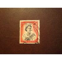 Новая Зеландия 1957 г.Елизавета -II.Номинал более  1 шиллинга.