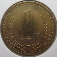 Албания 1 лек 1988 г. Алюминиевая бронза. В холдере (gk)