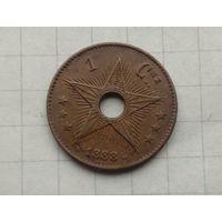 Бельгийское Конго1 сантим 1888г