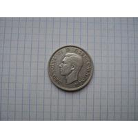 Великобритания 1/2 кроны (полкроны) 1937, серебро;