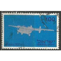 Израиль. Авиалинии Израиля. 1970г. Mi#475.