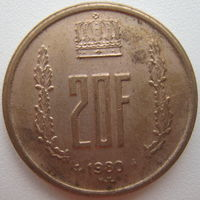 Люксембург 20 франков 1980 г. (g)