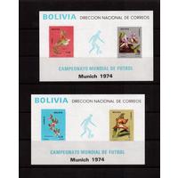 Боливия-1974(Мих.Бл.38-39) **, Спорт, ЧМ-1974 по футболу, Цветы