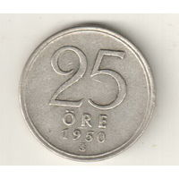 Швеция 25 эре 1950