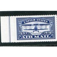 США. 100 лет почтовой марке. Самолет