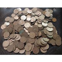 Монеты СССР 1961-1991гг (1,2,3,5,10,15,20,50 коп, 1 руб) - 355 штук. 10 руб без МЦ