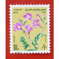 Египет. Цветы. ( 1 марка ) 1972 года.