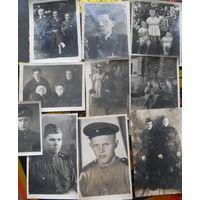 Фотография солдат (1945 год)+ послевоенные фото (начало 50 х ). Цена за все