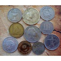Азия. 10 монет-9 разных стран. - 4