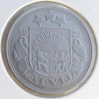 Латвия, 50 сантимов 1922 года, KM#6