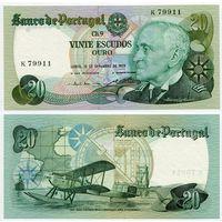 Португалия. 20 эскудо (образца 1978.09.13 года, P176a, подпись 2, UNC)