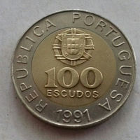 100 эскудо, Португалия 1991 г.