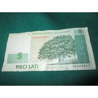 Латвия 5 лат 2009