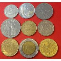 Италия, 9 разных монет