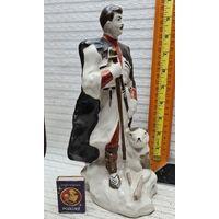 C 1 рубля Старая Фарфоровая Большая статуэтка Грузия Пастух и кавказская овчарка