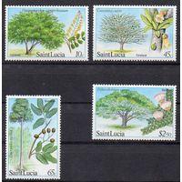 Флора Сент-Люсия 1984 год чистая серия из 4-х марок (М)