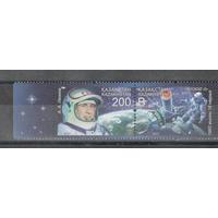 Казахстан 2015, (625) 50 лет первому выходу человека в открытый космос. Леонов. Восход 2, 2 марки**