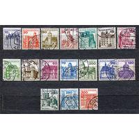 Крепости и замки. Стандарт. Германия. 1977-1992. Серия 18 марок
