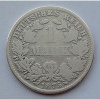 Германия - Германская империя 1 марка. 1875. D