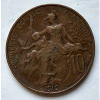 Франция 10 сантимов, 1910 2-5-16