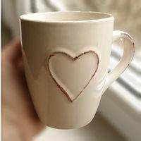 Кружка с сердцем керамика