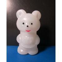 Мишка белый(прозрачная пластмасса,9см ),времён СССР-4
