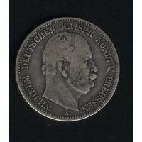 Пруссия 2 марки 1876 г.