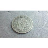 10 крейцеров 1868 Франц Иосиф1 венгерский вариант серебро