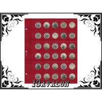 Лист Универсальный для 30 монет диаметром 23 мм, в альбом Коллекционер Коллекционеръ 2руб