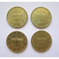 10 евроцентов Германия 2002 A,D,F,J.