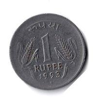 Индия. 1 рупия. 1993. Отметка монетного двора: Ноида