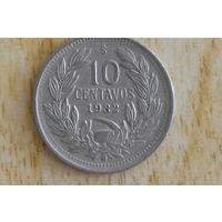 Чили 10 сентаво 1932 с 3 руб