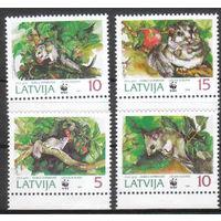 Латвия 1994 Фауна WWF Соня серия **