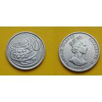 Каймановы острова 10 цент 1990г.