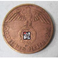 Третий рейх. 1 рейхспфенниг 1938 A.  2-117