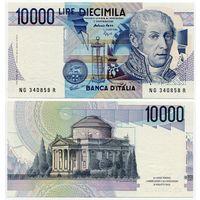 Италия. 10 000 лир (образца 1984 года, P112c, aUNC)