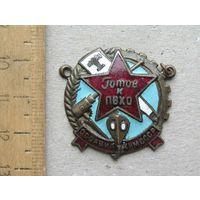 Значок Готов к ПВХО ОСОАВИАХИМ СССР 1930-е года