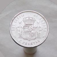 Испания 5 песет 1888 СЕРЕБРО