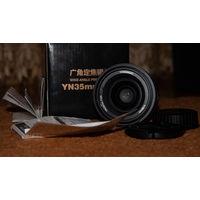 Yongnuo 35mm 1:2 f, для nikon объектив