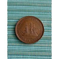 Канада  Нью-Брансуик  1 пенни 1854 г.
