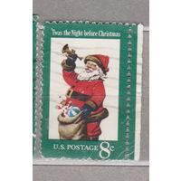 Рождество с правым боковым полем США 1972 год лот 1063