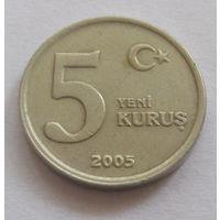 Турция 5 куруш 2005