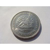 """Сьерра - Леоне. 1 леоне 1974 год  """"10 лет национальному банку""""  KM#26 Нечастая!!!"""