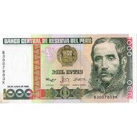Перу, 1000 инти, 1988 г., aUNC