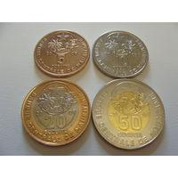 Мавритания. Набор 4 монеты 2009 - 2010 года 5,10,25, 50 угий