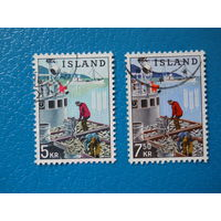 Исландия. 1963 г. Мi-371-372. ФАО. Борьба с голодом.